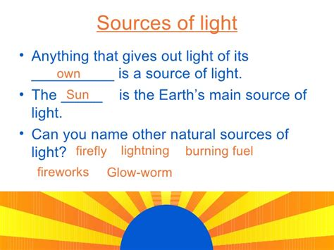 sources of blue light light energy sources and reflection