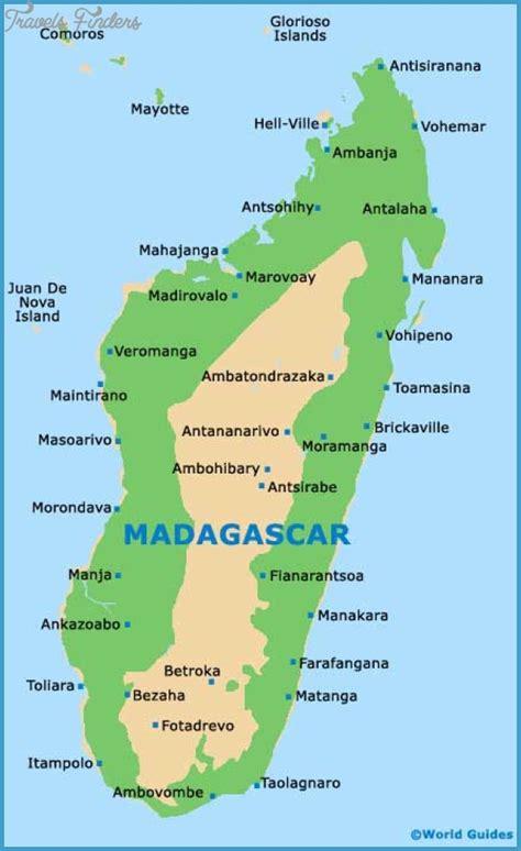 madagascar map tourist attractions travelsfinderscom