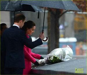 Kate Middleton & Prince William Brave the Rain & Pay Their ...