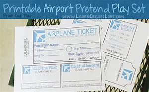 7 best images of airline ticket template free printable With pretend plane ticket template