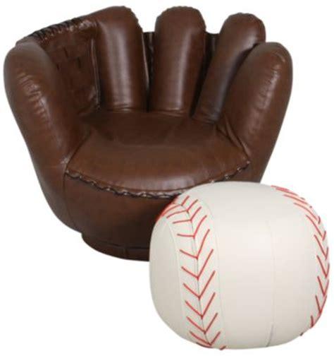 crown mark baseball glove chair ottoman homemakers