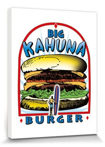 pulp fiction big kahuna burger logo stretched canvas
