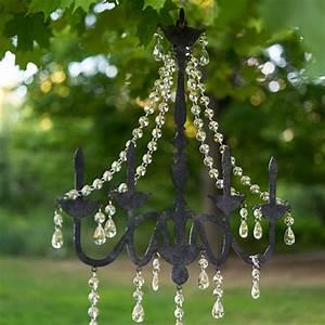 Faux chandelier silhouette metal wall decor acrylic