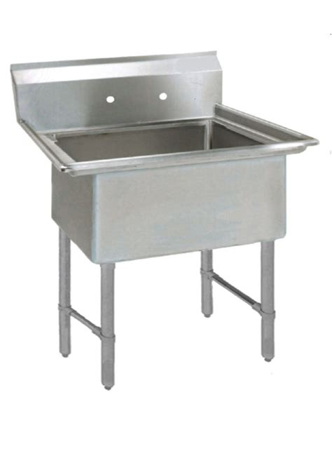 stainless utility sink with drainboard 1 one compartment commercial stainless steel utility