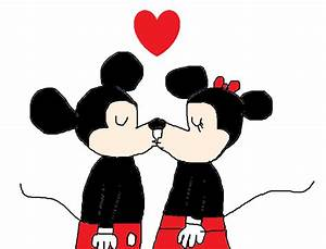 Mickey Mouse and Minnie Mouse Kissing by MikeEddyAdmirer89 ...