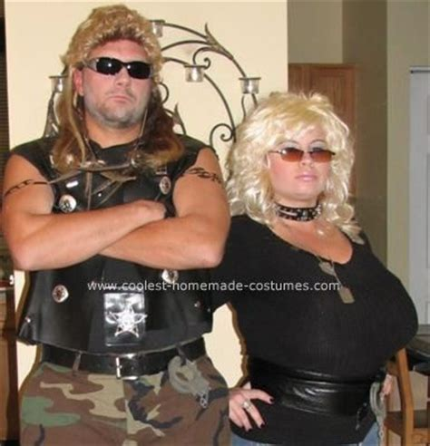 cool dog the bounty hunter and beth costume last minute