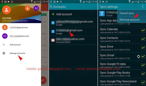 samsung account android samsung galaxy s5 how to remove an email account from