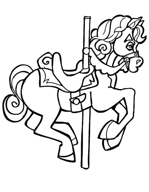 carousel book template carousel horse coloring books coloring pages