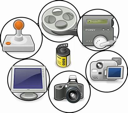 Multimedia Clipart Animation Between Difference Figure Icons