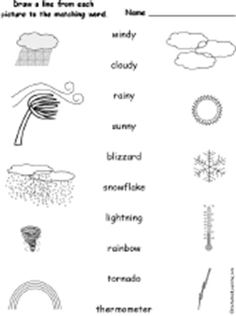 weather match the words to the pictures enchantedlearning com