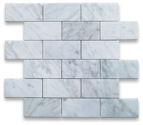 Carrara Marble Tile 12x12 by Grand Brick Subway Tile 12 Quot Modern Mosaic Tile By
