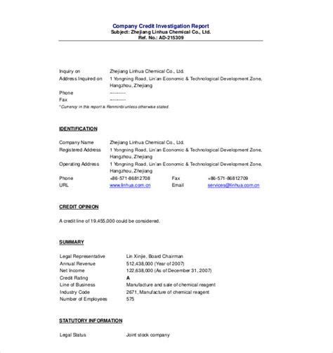 Investigation Summary Report Template