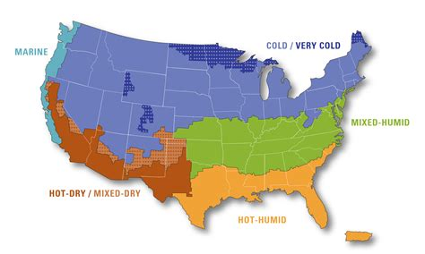 Climate Zones Map Climatezone Maps Of The United States