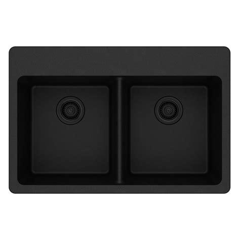black kitchen sink drop in elkay quartz classic drop in composite 33 in bowl