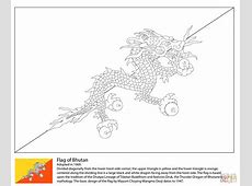 Flag of Bhutan coloring page Free Printable Coloring Pages