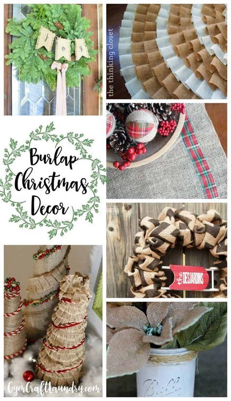 simply beautiful burlap christmas crafts  decor