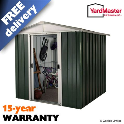 yardmaster 6x5 emerald deluxe apex geyz metal shed