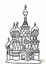 Coloring Cathedral Basil Moscow Colouring Colorare Disegni Supercoloring Raskraski Rossii Moskva Russia Architecture Malvorlagen Coloriage Dessin Goku Hundertwasser Stolicu Besplatno sketch template