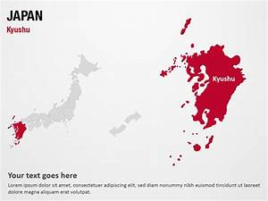kyushu japan powerpoint map slides kyushu japan map With japan powerpoint template free