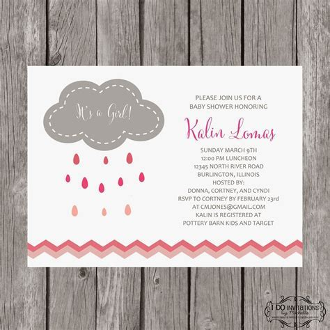 New Rain Cloud Baby Shower Invitations ? Ellery Designs