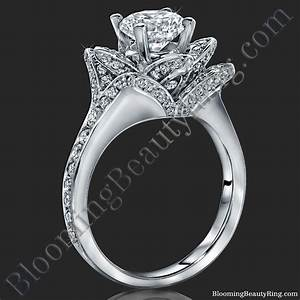 the small crimson rose flower diamond engagement ring With flower wedding rings diamond