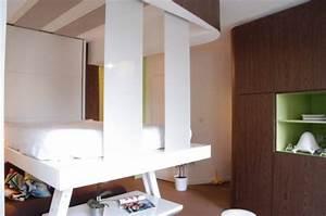 Lit Gain De Place Studio : relooking design d un studio de 25m2 par delphine maumot ~ Premium-room.com Idées de Décoration
