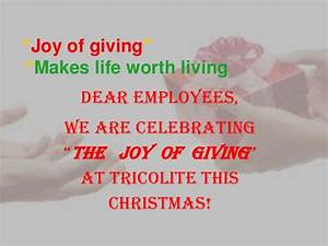 (Ppt)joy of giving