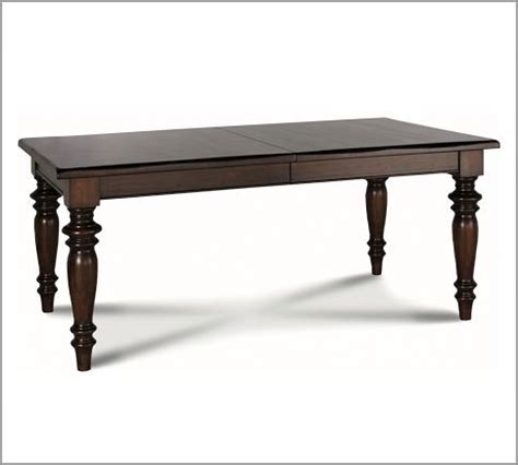 pottery barn discontinued table ls montego turned leg extending rectangular table
