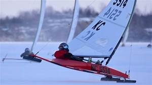 Sailors Ready For Ice Boating Contest  U2014 Only Question Is