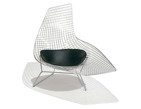 chaises bertoia asymmetric chaise lounge with seat cushion hivemodern com