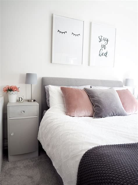 gray white and pink bedroom bedroom tour pink and grey bedroom decor bang on style 18822 | pink and grey bedroom decor 2