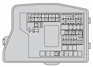 Toyota Verso  2012 - 2013  - Fuse Box Diagram