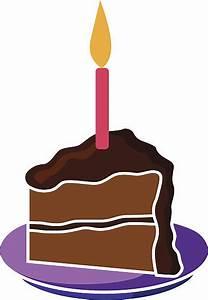 Piece Of Birthday Cake Clipart - ClipartXtras