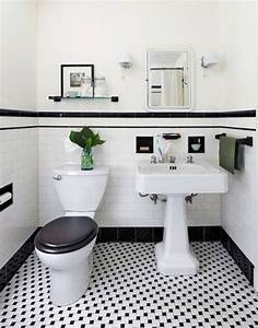 31 retro black white bathroom floor tile ideas and With black and white tile bathroom decorating ideas