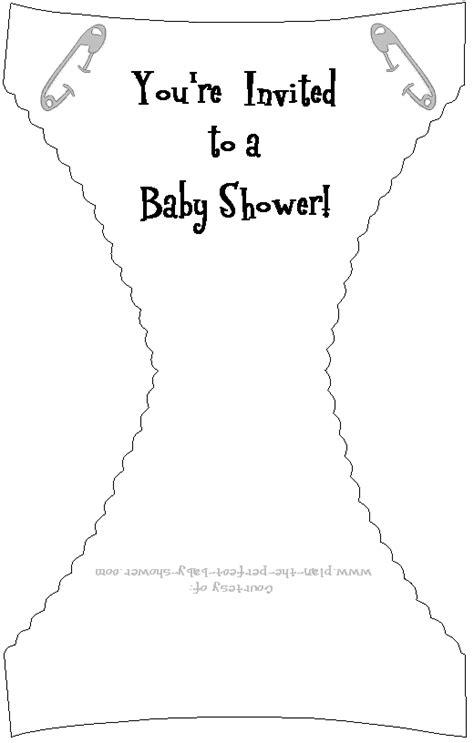 cute   printable baby shower diaper invitation