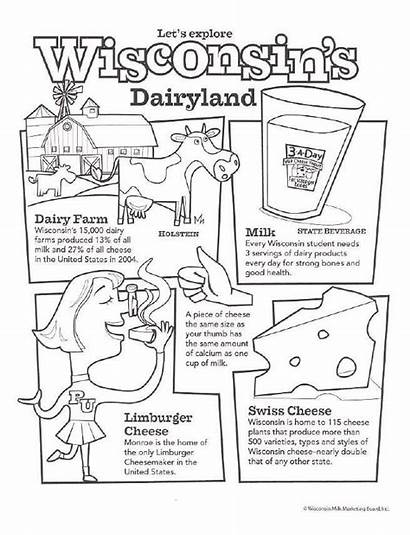 Coloring Dairy Pages Months Milk Activities Classroom