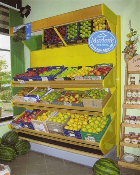 Scaffali Per Frutta E Verdura Esposizione Ortofrutta H Cm 220 Mt 2 In Metallo E Legno
