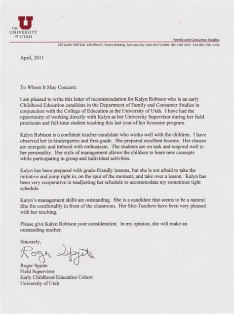 sle reference letter template for professional reference letter format sle standard 48493