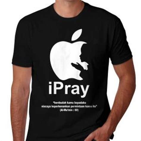 jual kaos islami ipray plesetan logo apple islam muslim ramadhan lebaran s m l xl di lapak