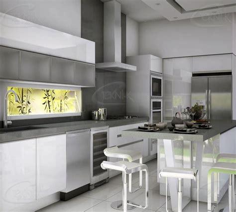 de acuerdo  las tendencias esta cocina ha sido disenada  gabinetes al alto brillo en blanco