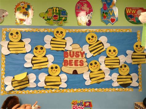 spring bulletin board bee craft cute honey  classroom