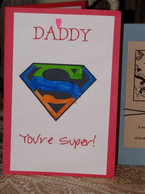 preschool crafts for s day superman card craft 588 | daddycard