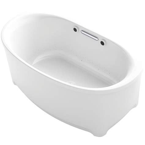 kohler archer 5 ft freestanding air bath tub in white k