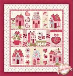 shabby fabrics quilting sweetheart houses pattern from shabby fabrics favequilts com