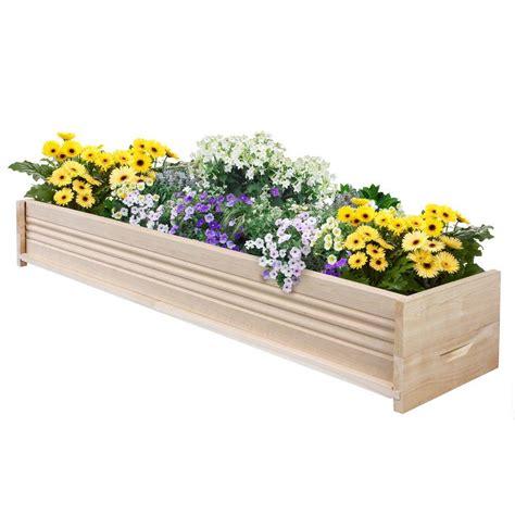 cedar planter box greenes fence 48 in l cedar planter box rcpb1248 the