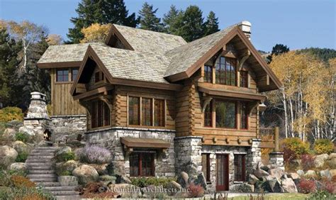 wonderful log cabin style house home building plans