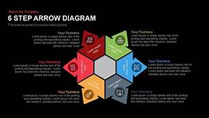 6 Step Arrow Diagram Template For Powerpoint And Keynote