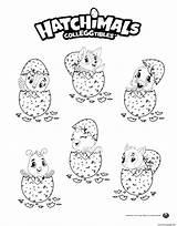 Coloring Eggs Hatchimals Printable sketch template