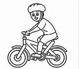 Coloring Pages Bike Riding Helmet Bmx Cycling Colouring Bicycle Printable Template Rider Results Wearing Getcolorings Cycle Kidsuki Popular Olympic Sketch sketch template