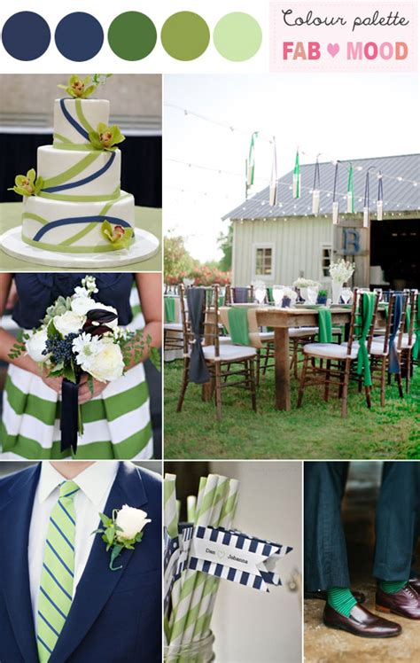 green and navy blue wedding colour theme fab mood